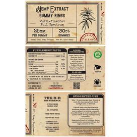 Gummy label