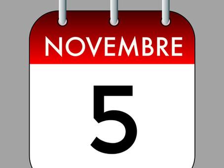 Ephémérides du 5 Novembre (Une Date, des Evénements. Le Passé au Présent)