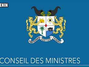 Conseil des ministres au Bénin: compte rendu du mercredi 9 septembre 2020