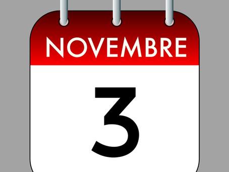 Ephémérides du 3 Novembre