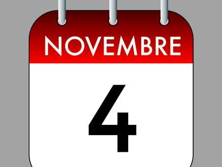 Ephémérides du 4 Novembre (Une Date, des Evénements. Le Passé au Présent)