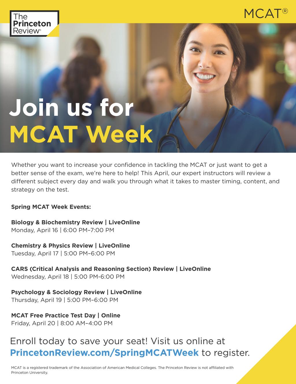 Princeton Review Spring MCAT Week