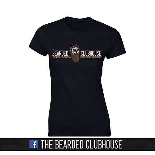 Ladies fitted tee The Bearded Clubhouse Logo