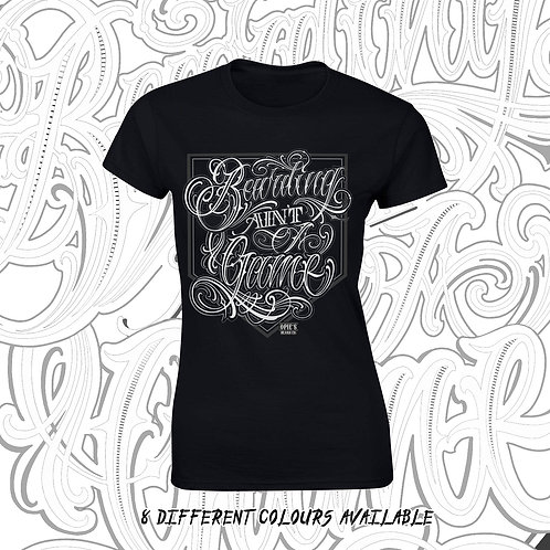 Ladies fitted tee Bearding Ain't A Game