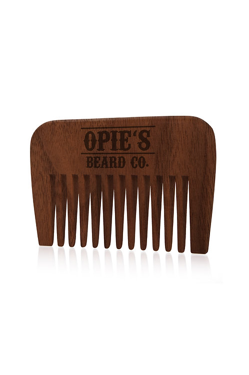 Wide Toothed Walnut Wood Beard Comb