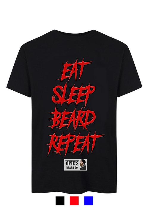 Eat,Sleep,Beard,Repeat Tee