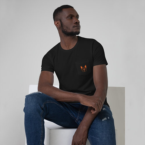Unisex Pocket T-Shirt - Frenchie Collection