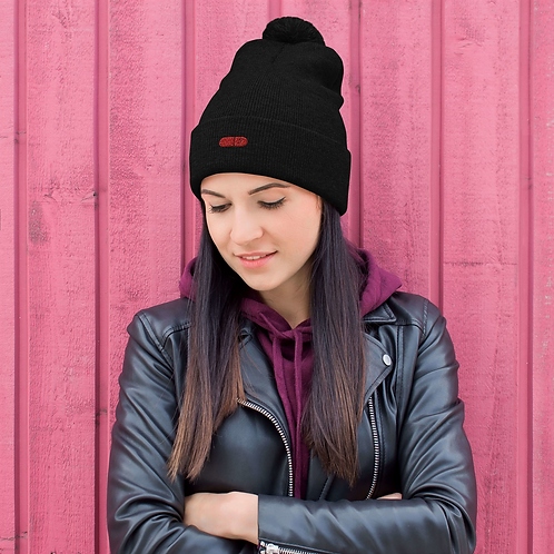 FAUX HAUSE RED PILL COLLECTION, Pom-Pom Beanie
