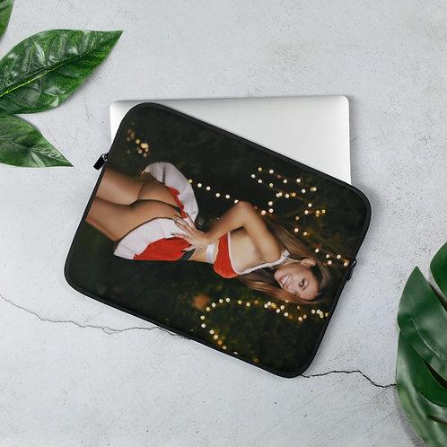 Merry Peachmas Laptop Sleeve, by INGELICA LEE