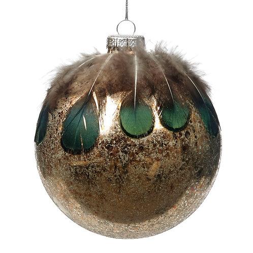 Boule de Noël en Verre à suspendre Ø 8CM10CM