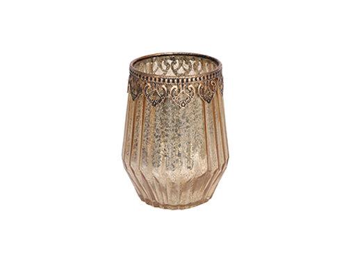 Tealight Holder Glass 14cm