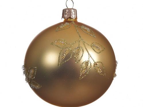 Boule verre déco branches doré