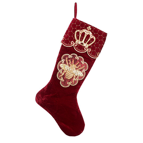 CHAUSSETTE QUEEN BEE STOCKING BURG/GLD 62CM