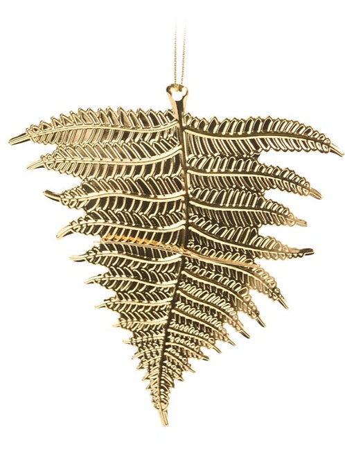 HANG DECO LEAF 13CM GOLD