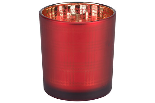 CHECKERS BOUGEOIR ROUGE D7XH8CM VERRE
