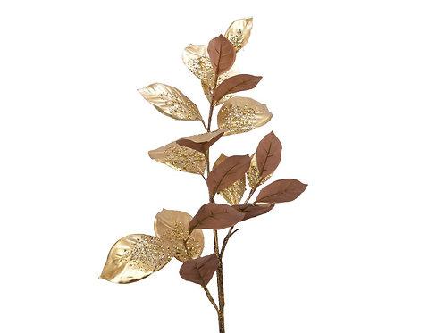 branche &  feuilles  dorées avec paillettes