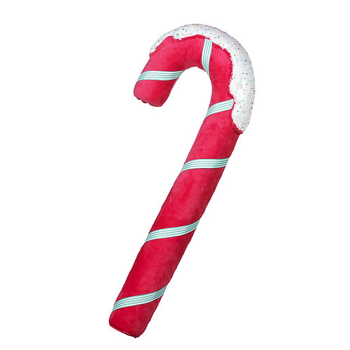 FABR.CANDY CANE DISPLAY HOT PNK/WH 58CM