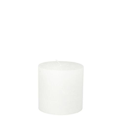 Bougie 10x10cm stompkaars white