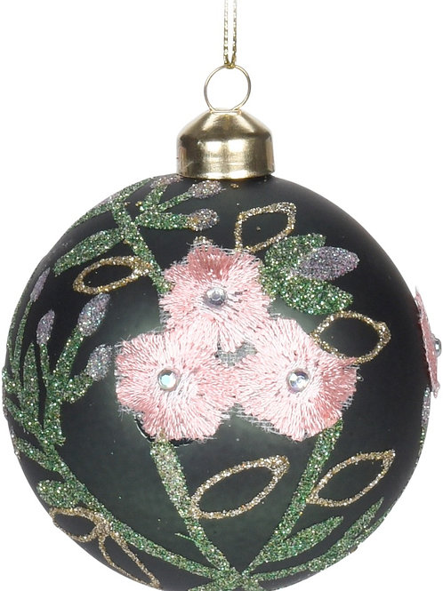 XMAS BALL GREEN Diam. 8cm