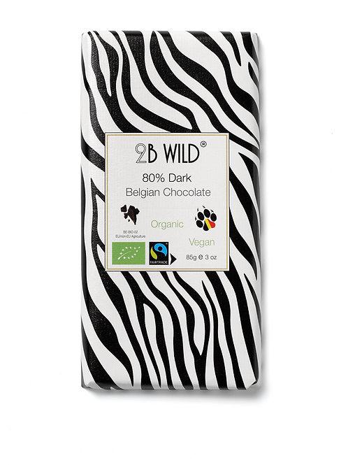 2B WILD CHOCOLAT NOIR 80% (PERU) 85 G - BIO
