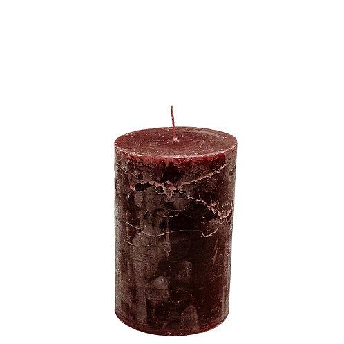Bougie 10x15cm stompkaars wine red