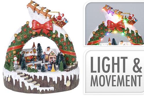 SCENE NOEL EN RESINE - AVEC MOUVEMENT ET LED