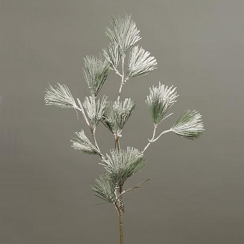 Pine spray with snow, 100 cm