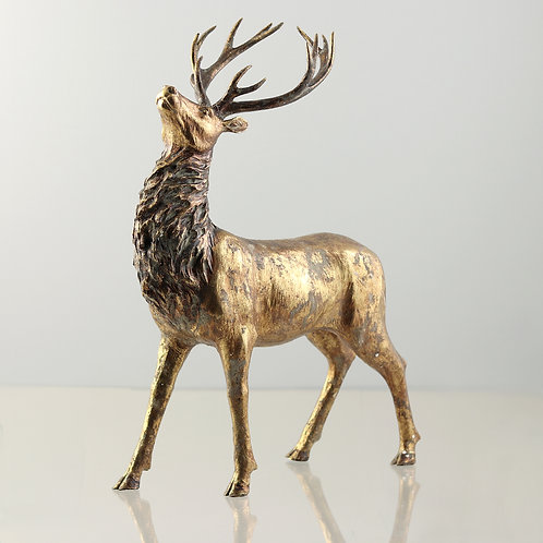 Reindeer  gold-washed, Height 65cm Width 42cm