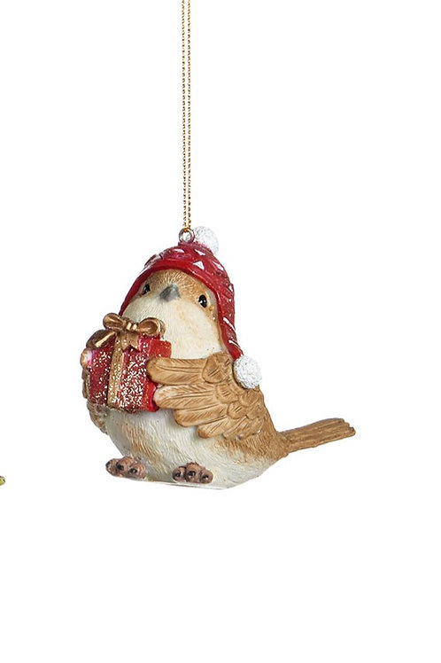 Oiseau Thème Noël 7,5CM