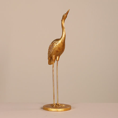 Heron, gold, 80cm