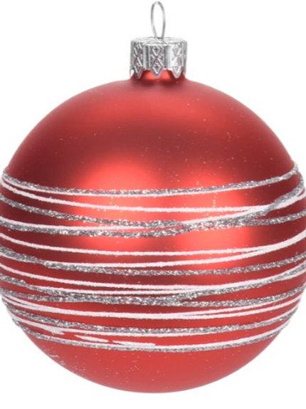 XMAS BALL RED 8 CM