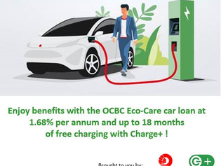 Charge+ & OCBC launch attractive combination of EV loans and free charging