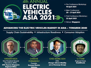 Charge+ speaks at 4th Annual EV Asia Conference