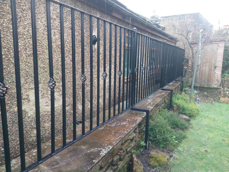 Completion of railing and gate fitting.