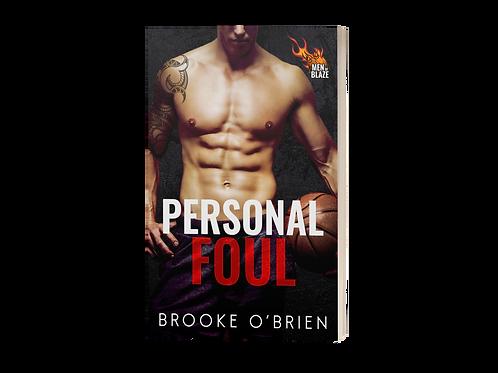 Personal Foul (Men of Blaze) - Signed Paperback