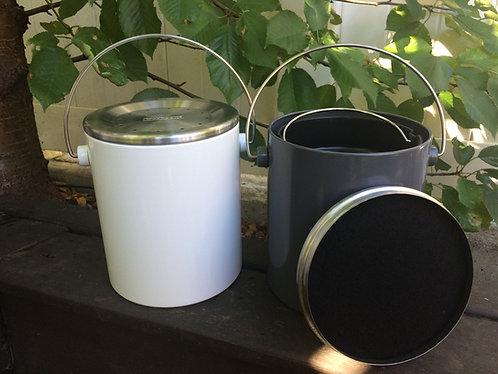 Compost Bins 3L - White/Grey