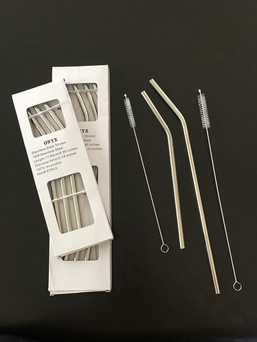 Stainless Steel Straws (incl. brush)