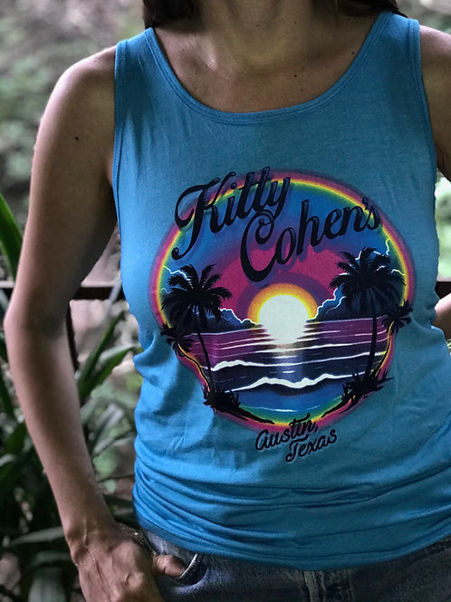 Kitty Cohen's Sunset Tank Aqua