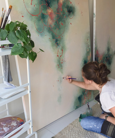 Melissa Goodenough artist painting large abstract artwork
