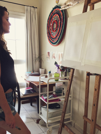 Melissa Goodenough Art in studio