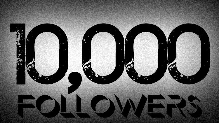 10k followers