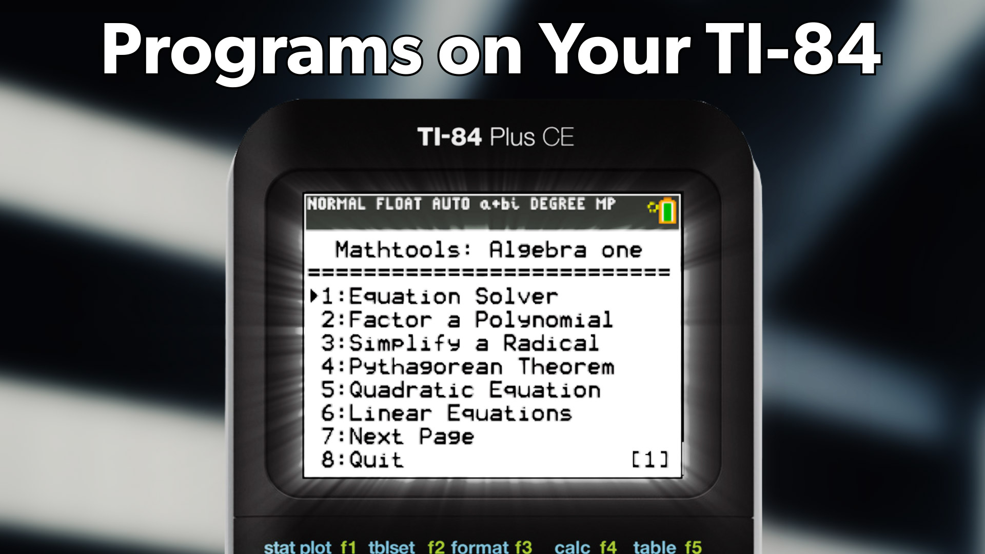 How to download games onto your ti-84plus/ti-84plus silver edition.