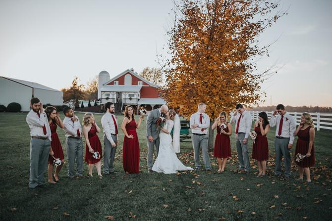 Lauren & Griffin | Fall Barn Wedding
