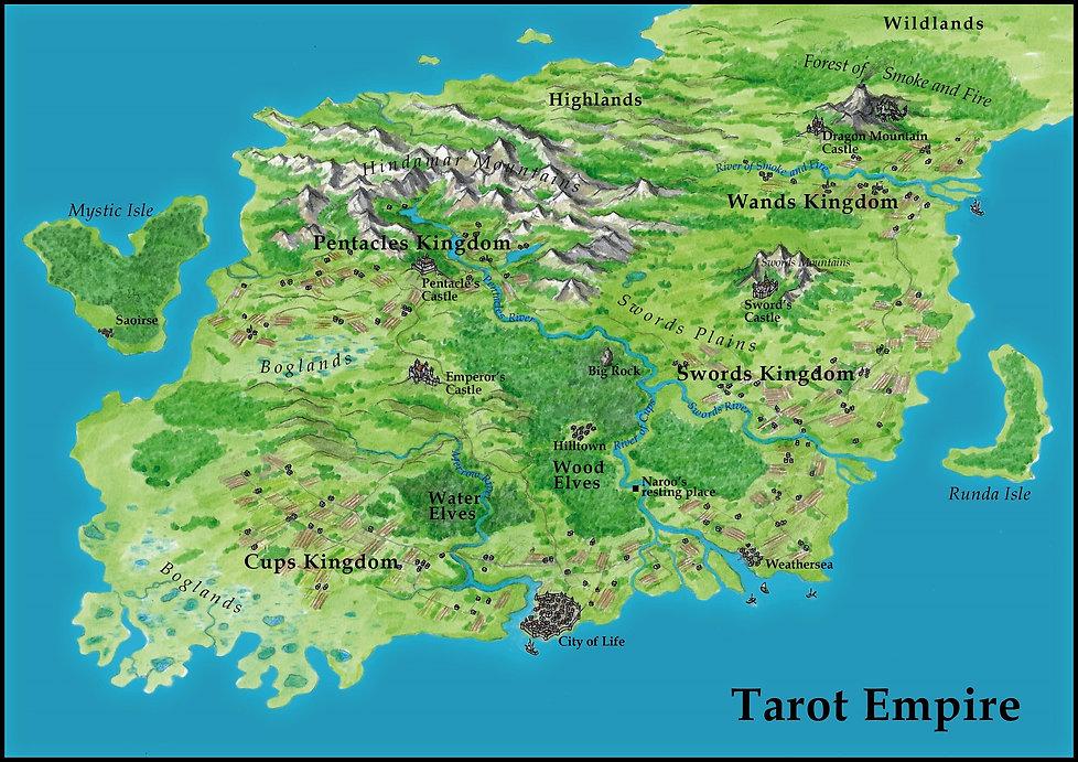 Map Tarot Empire - The Fool's Journey Through The Tarot