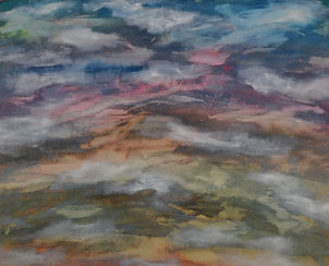 Misty Mountains Acrylic Paint on Canvas