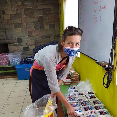 Sylvia Metzler in Aktion bei Pan de Vida
