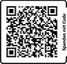 QR Code für das Telebanking um Spenden an Hilfe die ankommt zu überweisen.