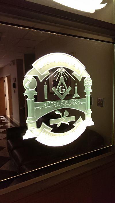 Folsom Masonic Sandblast Backlit