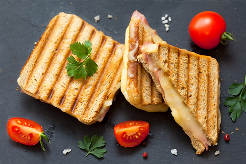 BBQ Chicken and Smoked Cheddar Toastie