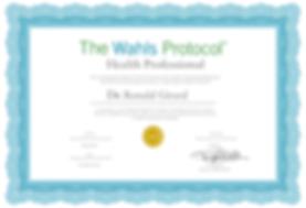 dr ronald girard certificate